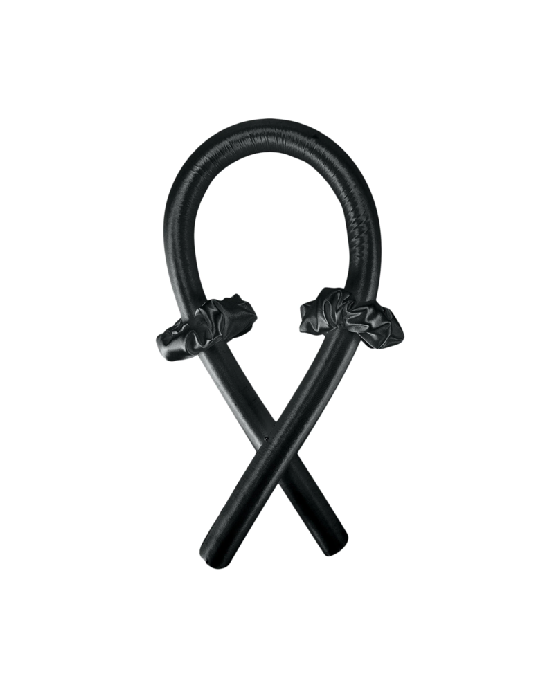 Fashion Favorite Haarkruller Zwart | Heatless Curling Ribbon | Satijn/Rubber