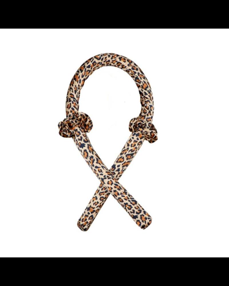 Fashion Favorite Haarkruller Leopard   Heatless Curling Ribbon   Satijn/Rubber