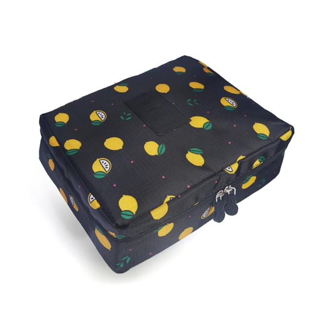 Travel 'Black Lemon' Toilettas   Make Up Organizer/Travel Bag/Reistas