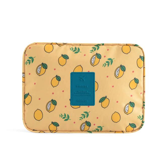 Travel 'Yellow Lemon' Toilettas   Make Up Organizer/Travel Bag/Reistas