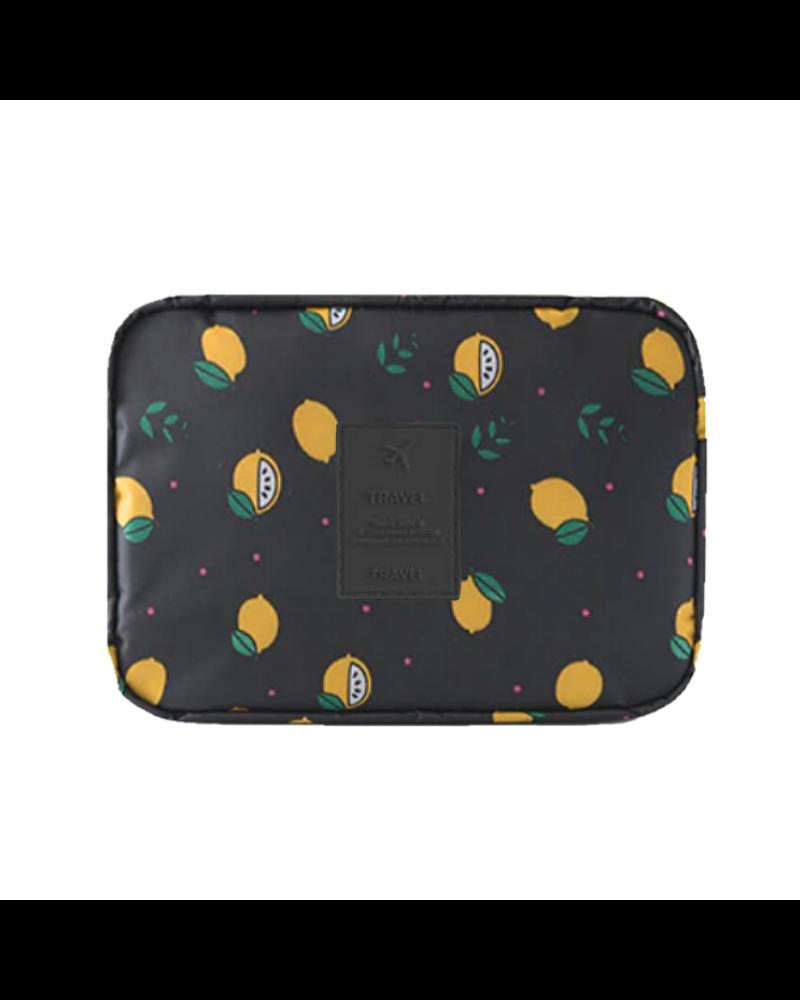 Fashion Favorite Travel 'Black Lemon' Toilettas | Make Up Organizer/Travel Bag/Reistas