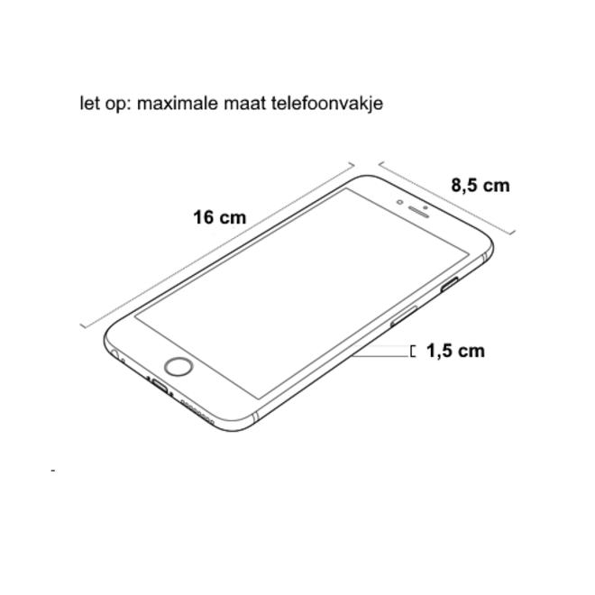 Smartphone Tasje - Ferron Zwart    Kunstleer