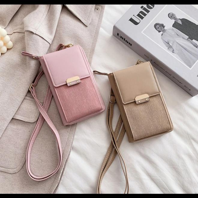 Smartphone Tasje - Lux Roze | Kunstleer