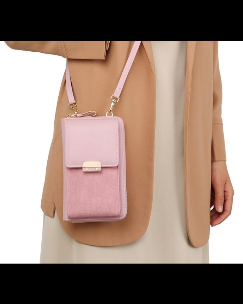 Fashion Favorite Smartphone Tasje - Lux Roze   Kunstleer