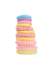Fashion Favorite Haar Elastiek Set 12 stuks - Geel/Roze