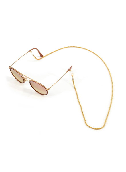 Fashion Favorite Zonnebril Ketting | Twisted Gold