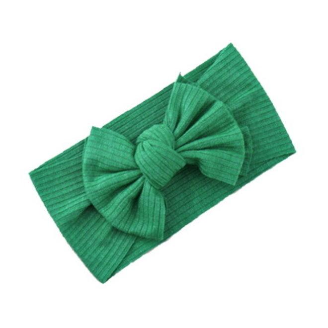 Kinder Haarband   Bow Groen