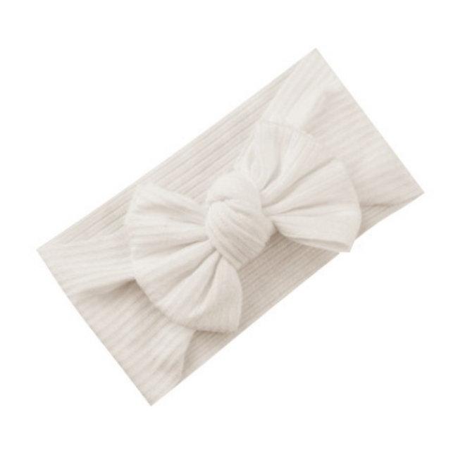 Kinder Haarband   Strik / Bow Wit - Creme