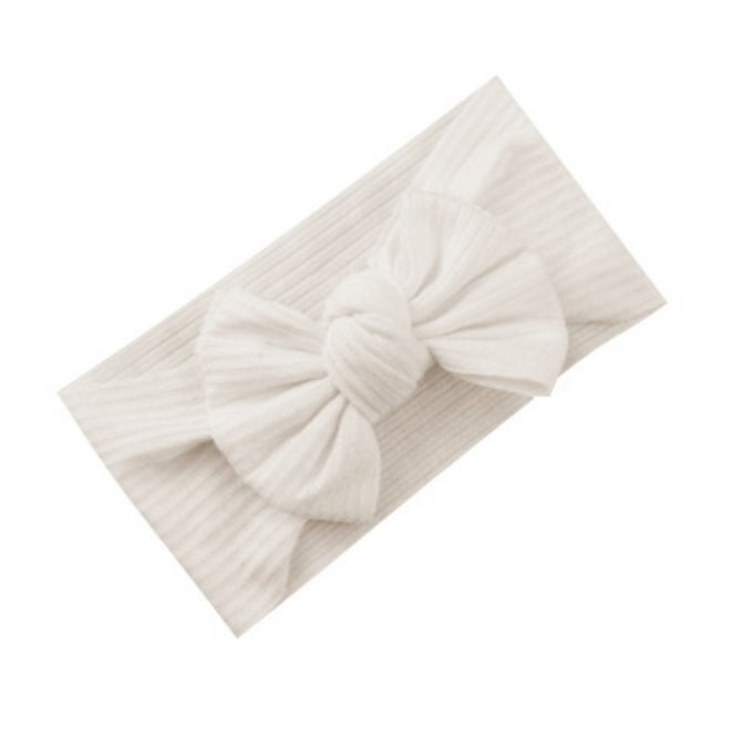Kinder Haarband Bow   Wit - Creme
