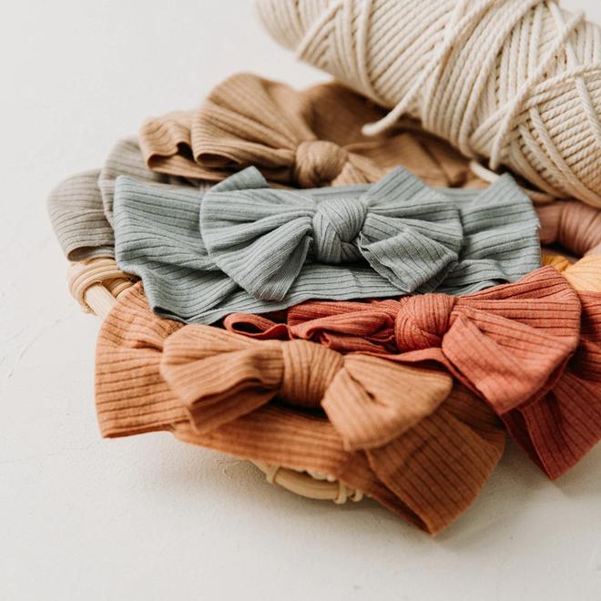 Kinder Haarband | Strik / Bow | Geel