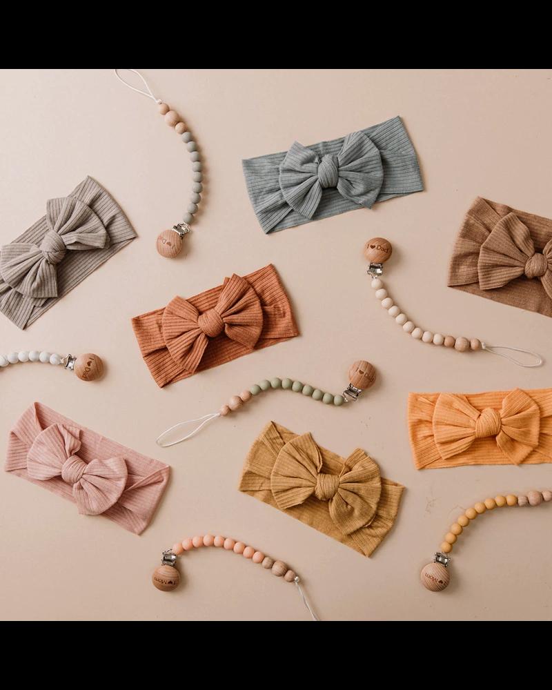Fashion Favorite Kinder Haarband   Strik / Bow   Wijnrood