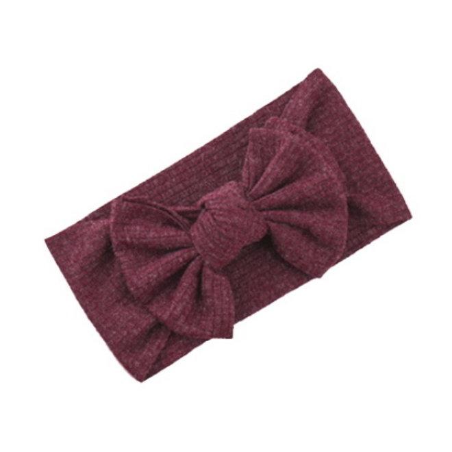Kinder Haarband | Strik / Bow | Wijnrood