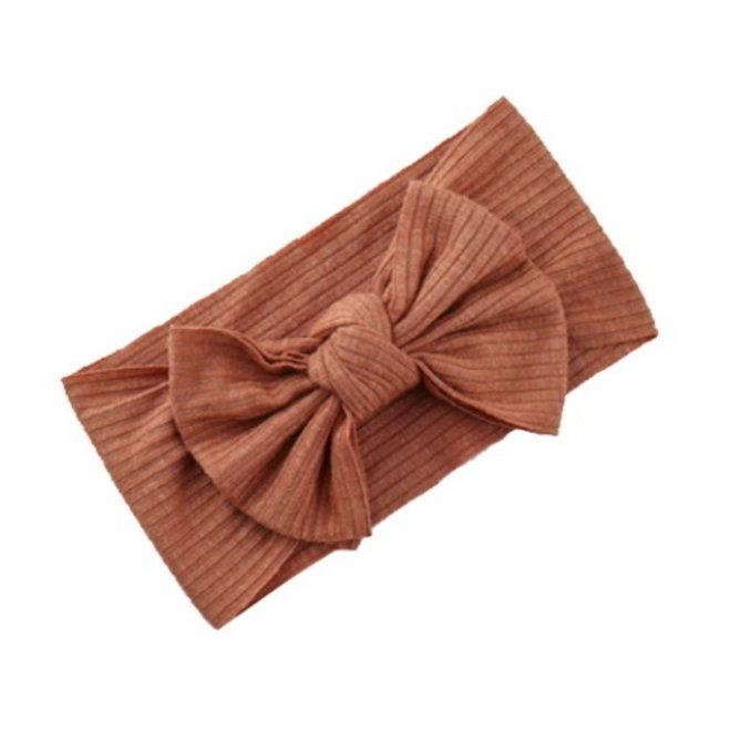 Kinder Haarband   Strik / Bow   Roestbruin