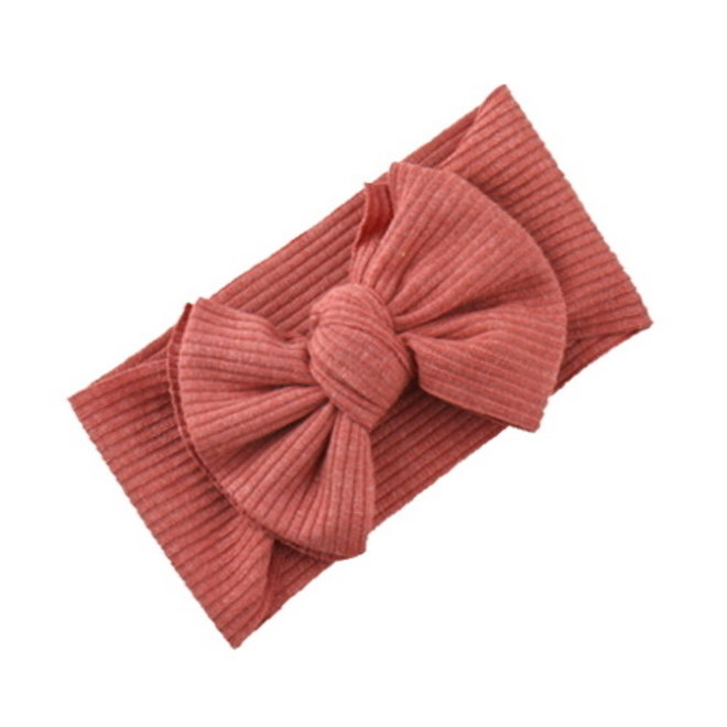 Kinder Haarband | Strik / Bow | Terracotta