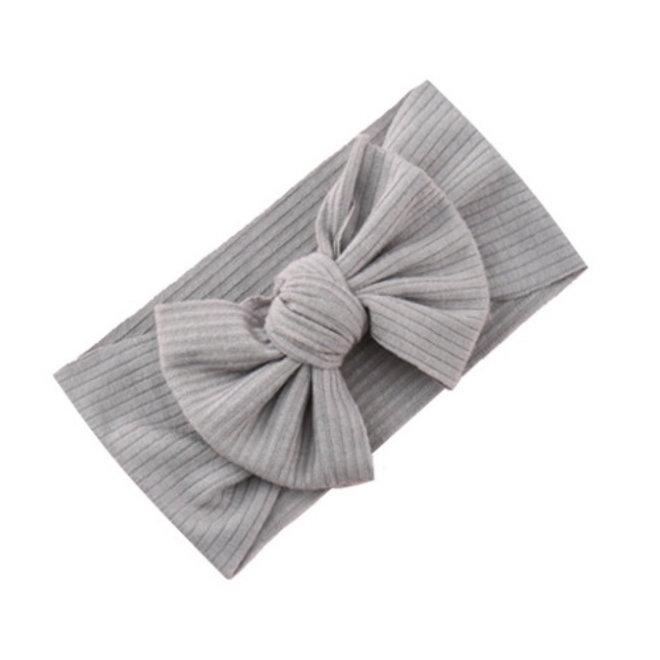 Kinder Haarband | Strik / Bow | Grijs