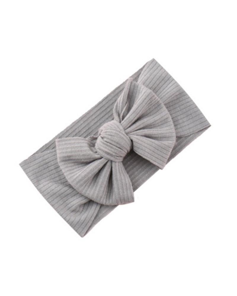 Fashion Favorite Kinder Haarband   Strik / Bow   Grijs