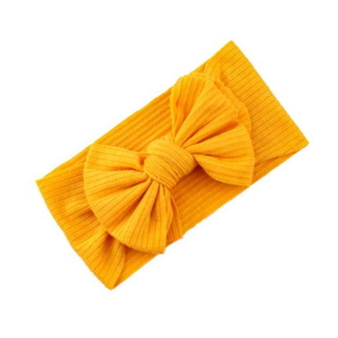 Kinder Haarband Bow   Okergeel