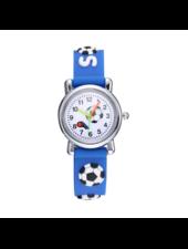 Fashion Favorite Kinder Horloge | Voetbal Blauw 3D