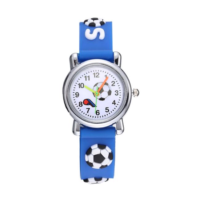 Kinder Horloge   Voetbal Blauw 3D