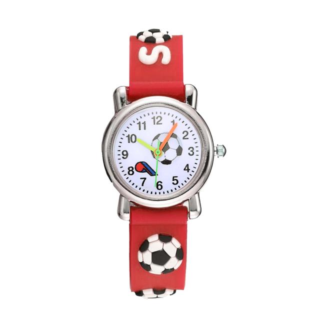 Kinder Horloge | Voetbal Rood 3D