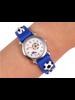 Fashion Favorite Kinder Horloge | 3D Voetbal / Soccer Zwart | Siliconen