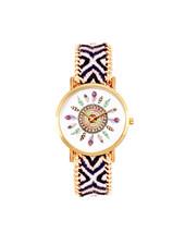 Fashion Favorite Ibiza Feather Horloge | Zwart/Wit