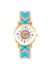 Fashion Favorite Ibiza Feather Horloge | Blauw/Roze