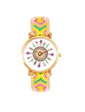 Fashion Favorite Ibiza Feather Horloge | Geel/Roze