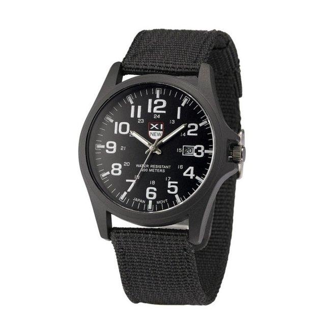 New Military Horloge | Zwart