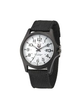 Fashion Favorite New Military Horloge | Zwart/Wit