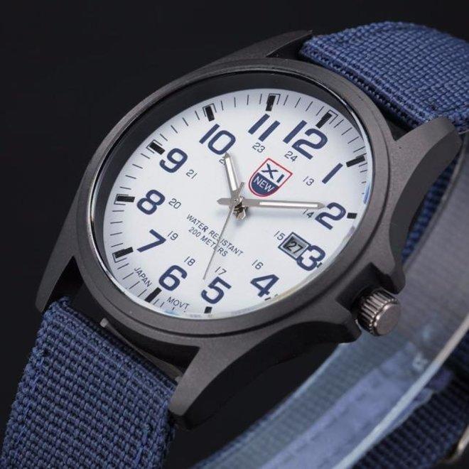 New Military Horloge | Blauw | Nylon