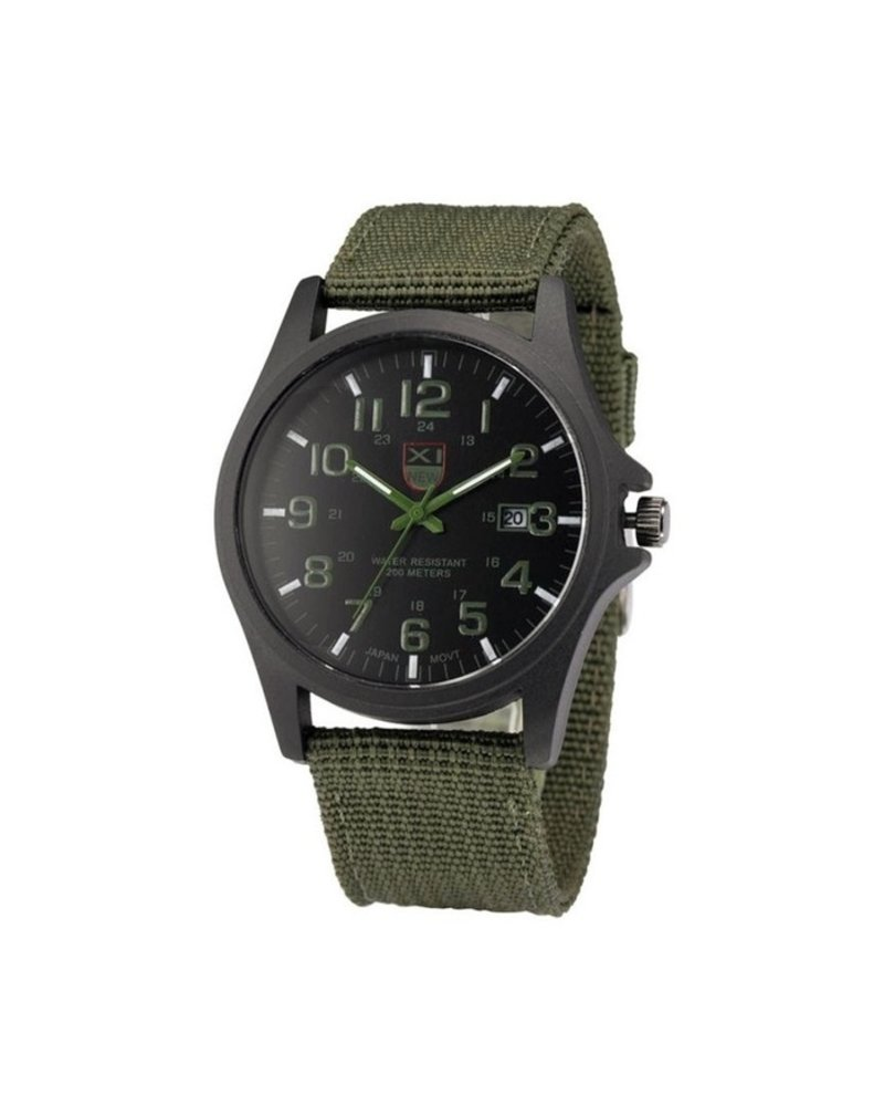 Fashion Favorite New Military Horloge   Groen   Nylon