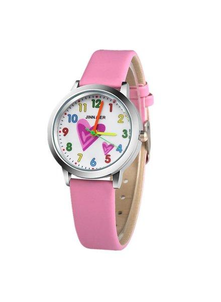 Fashion Favorite Kinder Horloge | Hartje Lichtroze