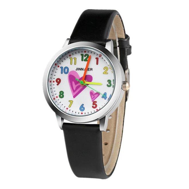 Kinder Horloge   Hartje Zwart