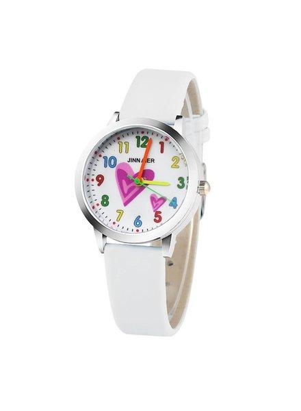 Fashion Favorite Kinder Horloge | Hartje Wit