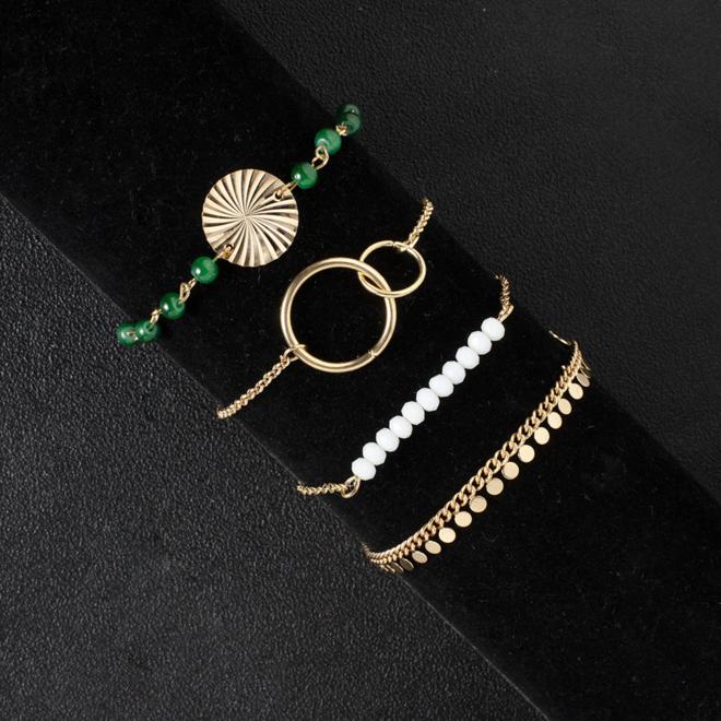 Set Armbanden Spirit | 4 - delig | Goudkleurig | 18 - 19 cm