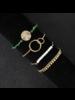 Fashion Favorite Set Armbanden Spirit | 4 - delig | Goudkleurig | 18 - 19 cm