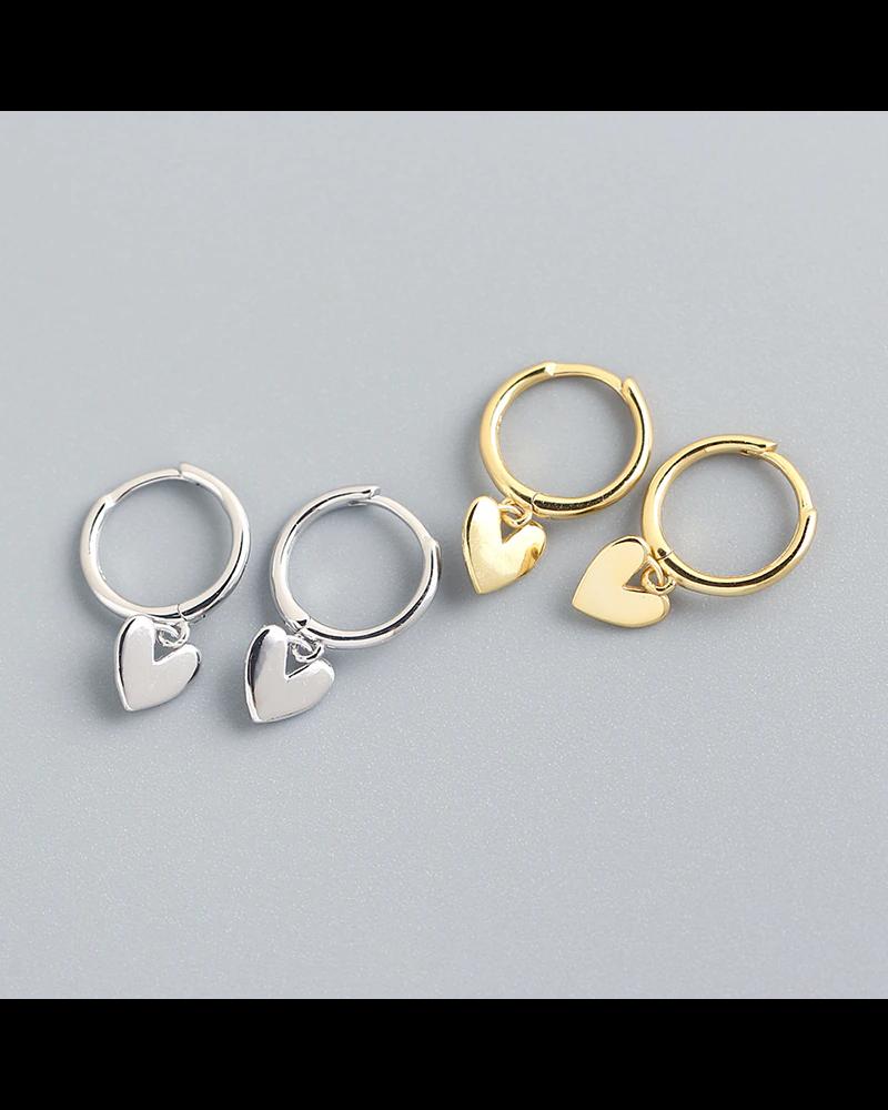 Fashion Favorite Oorbellen Hartje | Zilverkleurig | 925 Zilver | Oorringen 8,5 mm