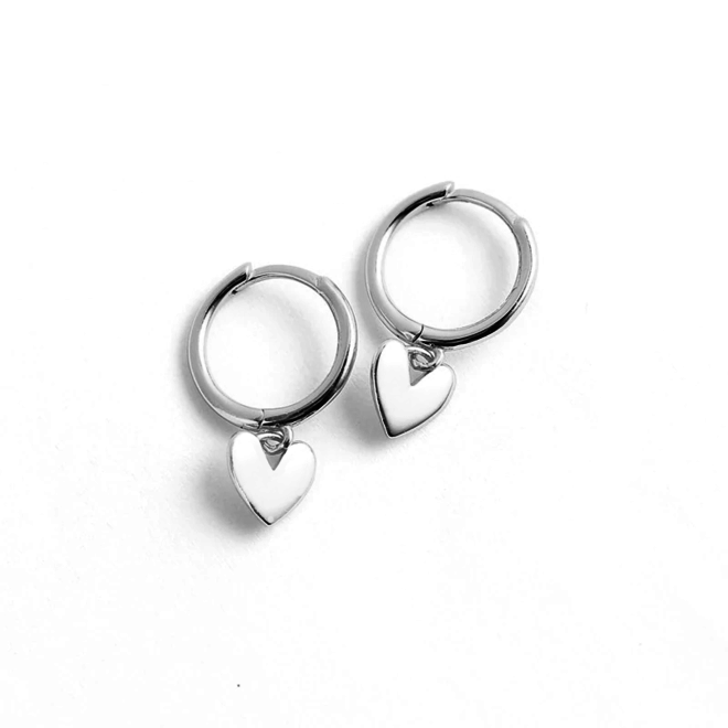 Oorbellen Hartje | Zilverkleurig