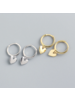 Fashion Favorite Oorbellen Hartje | Goudkleurig | 925 Zilver | Oorringen 8,5 mm