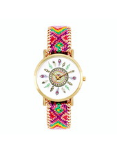 Fashion Favorite Ibiza Feather Horloge | Paars/Roze