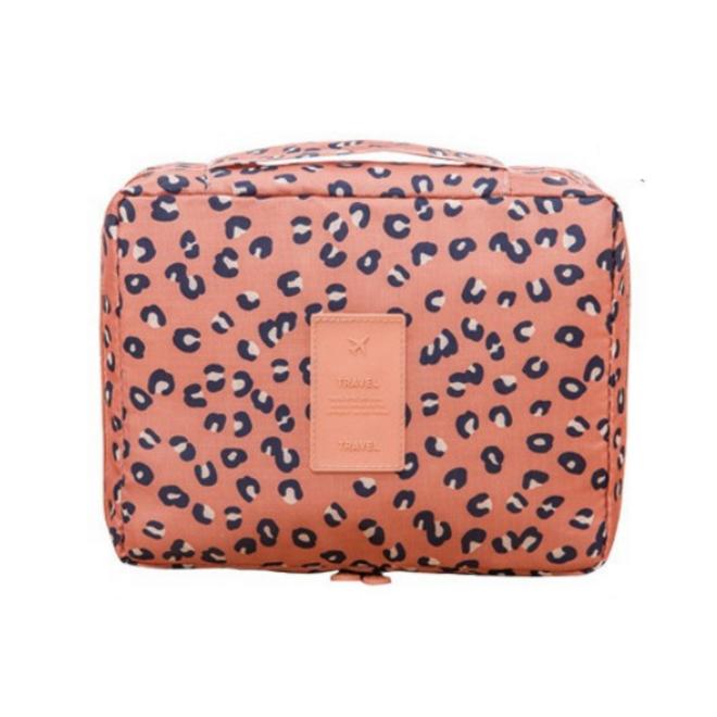 Travel 'Leopard' Toilettas Luipaard   Make Up Organizer/Travel Bag/Reistas