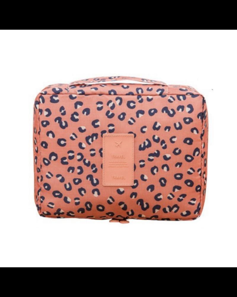 Fashion Favorite Travel 'Leopard' Toilettas Luipaard | Make Up Organizer/Travel Bag/Reistas