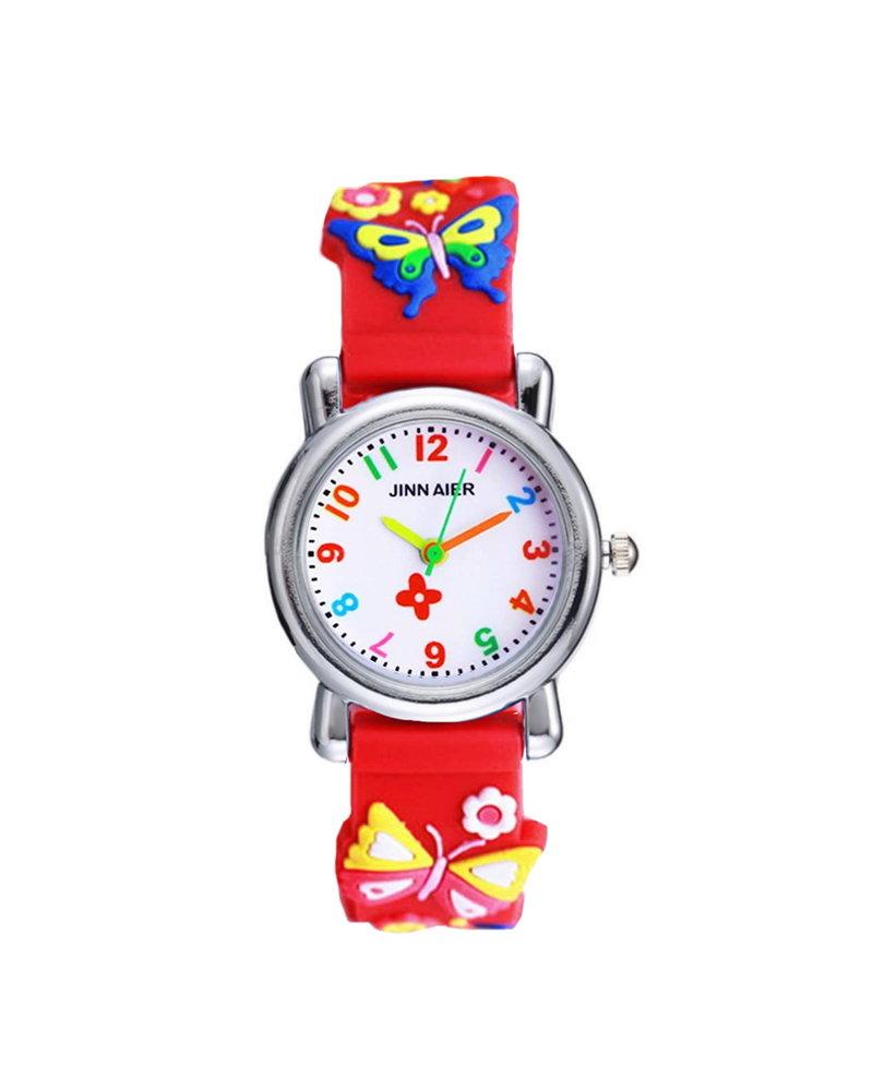 Fashion Favorite Kinder Horloge   3D Vlinder Rood   Siliconen