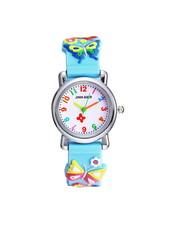 Fashion Favorite Kinder Horloge   Vlinder Blauw 3D