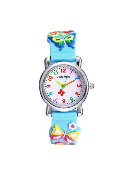 Fashion Favorite Kinder Horloge | Vlinder Blauw 3D