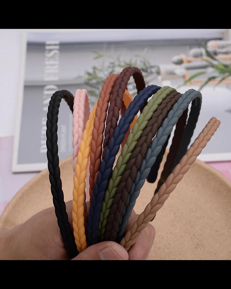 Fashion Favorite Haarband / Diadeem | Vlecht | Roest | Kunststof