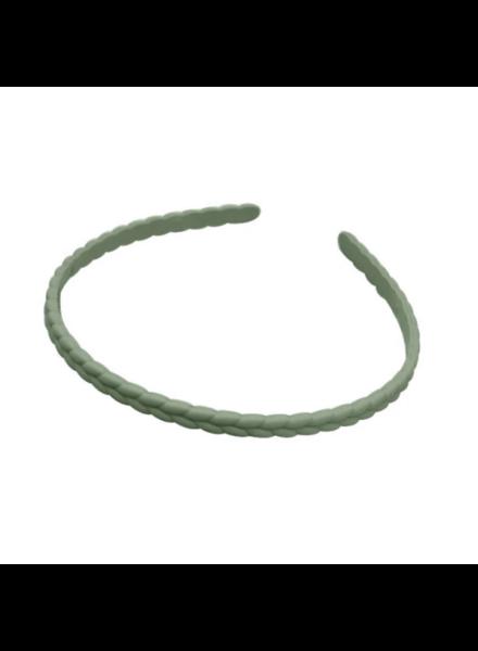Fashion Favorite Haarband / Diadeem  Vlecht | Olijfgroen