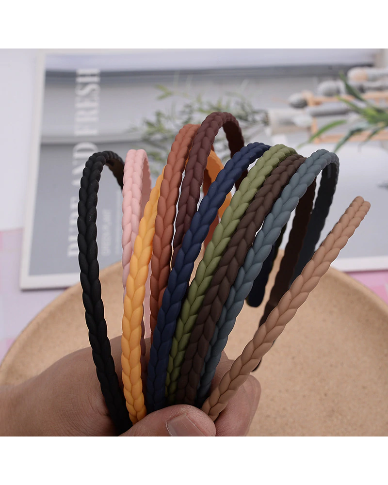 Fashion Favorite Haarband / Diadeem Vlecht | Camel | Kunststof