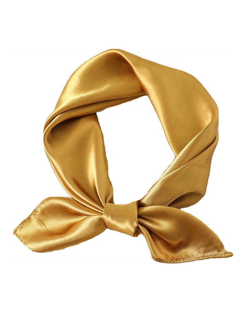 Fashion Favorite Satijnen Bandana / Zakdoek Goud | Polyester - Satijnlook  | 60 x 60 cm